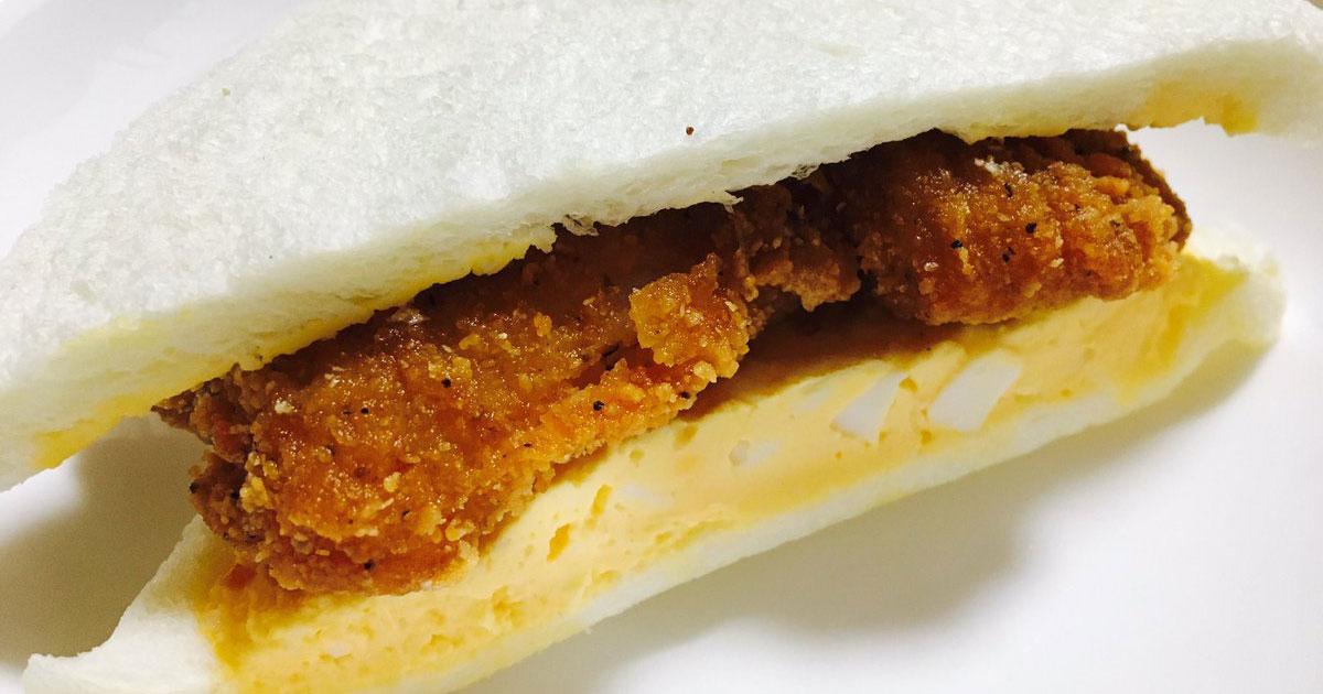 แซนวิชไข่เจียวไก่ทอด