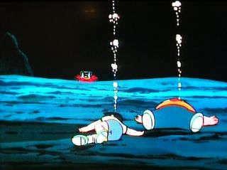 ฉากที่ไจแอนท์กับซูเนโอะใกล้จะจมน้ำตายก็เป็นฉากที่ฝังใจมากค่ะ