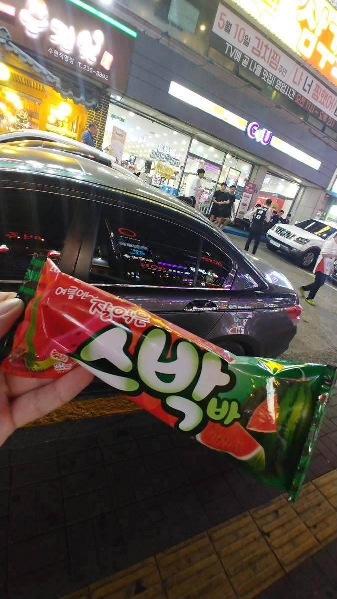 ไอติมแท่งแตงโมของประเทศเกาหลี