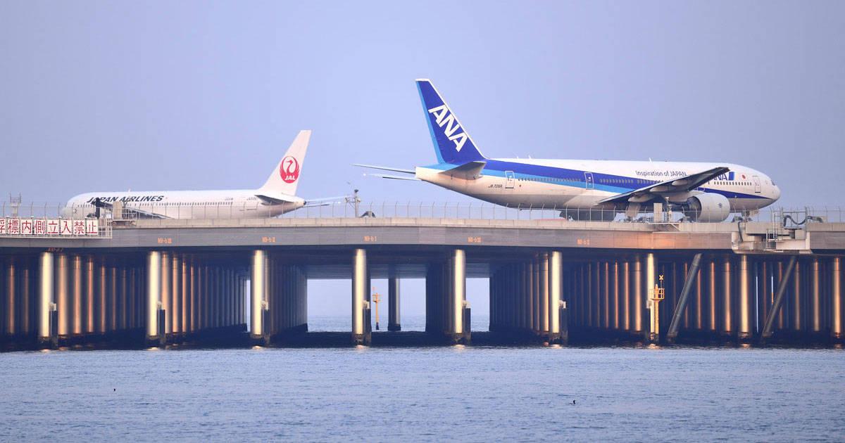 ลานบินบนทะเลของสนามบิน Haneda โดยเทคโนโลยีแรกของโลก เพื่อไปให้ทำลายระบบนิเวศ
