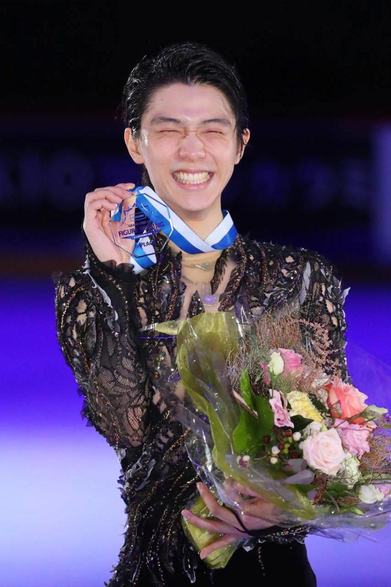 นักกีฬาสเก็ตน้ำแข็ง ฮะนิว ยูสุรุชนะเลิศการแข่งขัน
