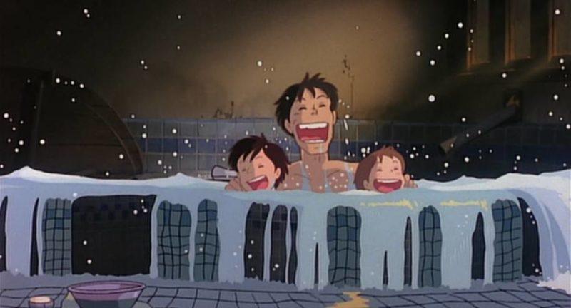 ฉากอาบน้ำระหว่างพ่อแม่กับลูก