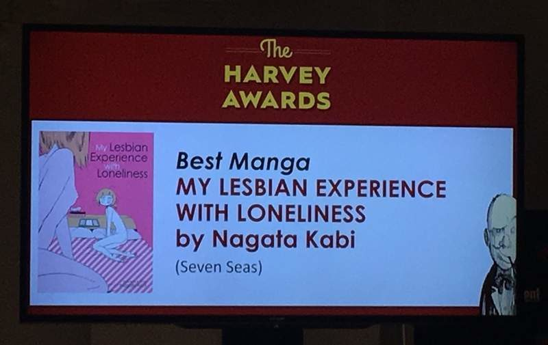 """Harvey Awards - Best Manga """"My Lesbian Experience With Loneliness"""""""