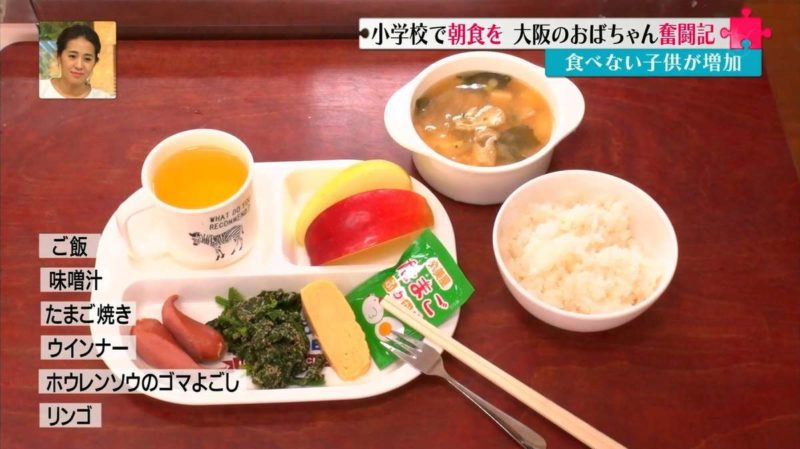 อาหารเช้าของโรงเรียน